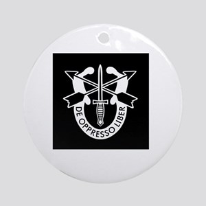 US Army Special Forces SF Green Ber Round Ornament
