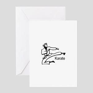 Karate Kick Greeting Cards