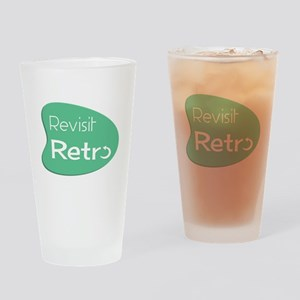 Revisit Retro Drinking Glass