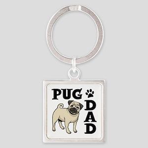 PUG DAD Square Keychain