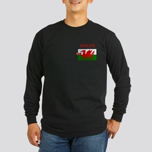 Wales Rugby Long Sleeve Dark T-Shirt