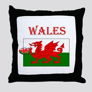Wales Rugby Throw Pillow