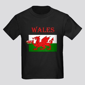 Wales Rugby Kids Dark T-Shirt