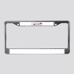 Carrie License Plate Frame