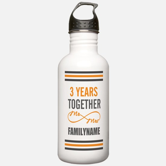 3rd Anniversary Person Water Bottle