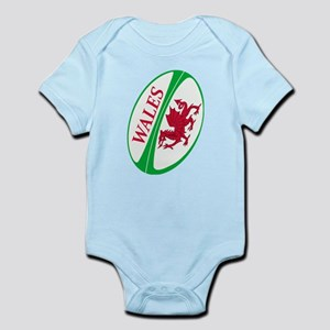 Wales Rugby Ball Infant Bodysuit