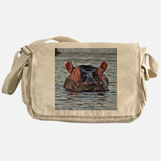 Funny Hippopotamus Messenger Bag