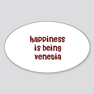 happiness is being Venetia Oval Sticker