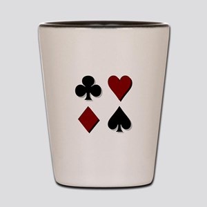 Poker 3 Shot Glass