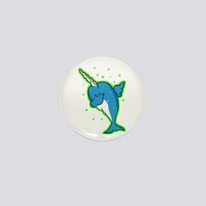 narwhale Mini Button