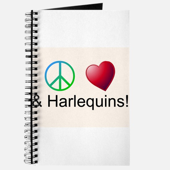 Peace Love Harlequins Journal