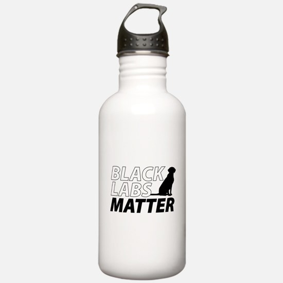 Cute Black labs Water Bottle