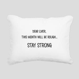 Dear Liver Rectangular Canvas Pillow