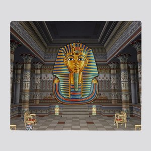 King Tut Hall Throw Blanket