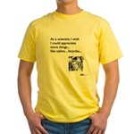Scientist Cabin Bicycle Yellow T-Shirt