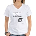 Scientist Cabin Bicycle Women's V-Neck T-Shirt