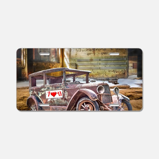 Old Car Factory Aluminum License Plate