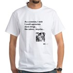 Scientist Cabin Bicycle White T-Shirt