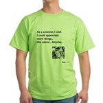 Scientist Cabin Bicycle Green T-Shirt