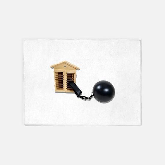 HouseBallChain082510.png 5'x7'Area Rug