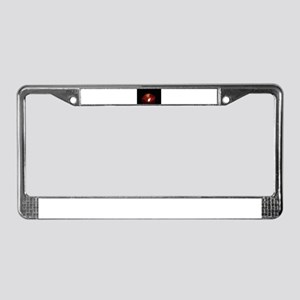 Red candle License Plate Frame