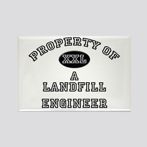 Property of a Landfill Engineer Rectangle Magnet