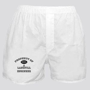 Property of a Landfill Engineer Boxer Shorts