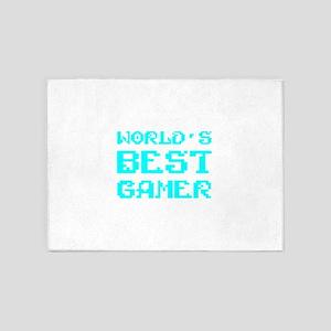 World's Best Gamer 5'x7'Area Rug