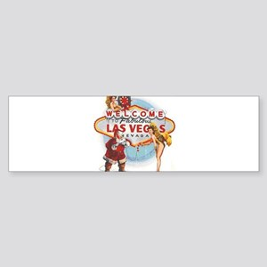 Las Vegas Santa Bumper Sticker