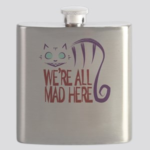 We're All Mad Here Flask
