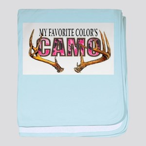 My Favorite Colo's Camo baby blanket