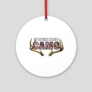 My Favorite Colo's Camo Round Ornament
