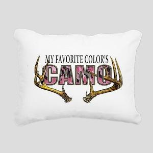 My Favorite Colo's Camo Rectangular Canvas Pillow