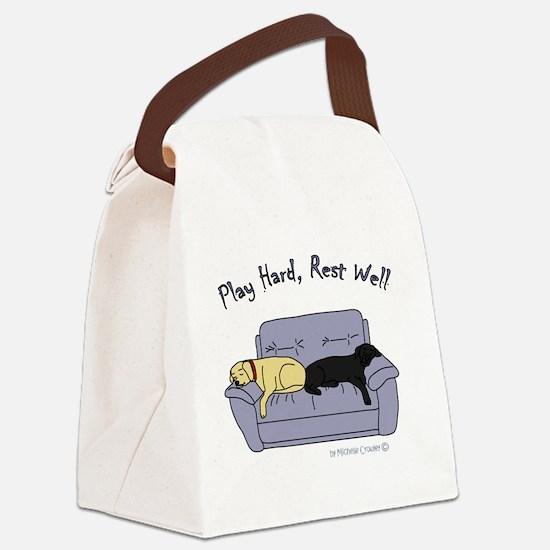 Unique Lab mom Canvas Lunch Bag