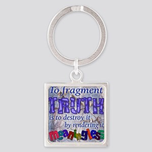 Fragment Truth Square Keychain Keychains