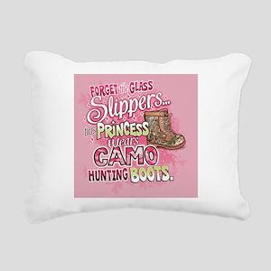 This Princess Wears Camo Rectangular Canvas Pillow
