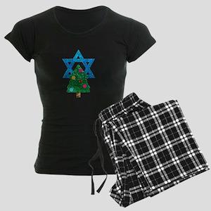 glitter christmukkah Women's Dark Pajamas