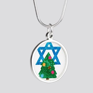 glitter christmukkah Necklaces