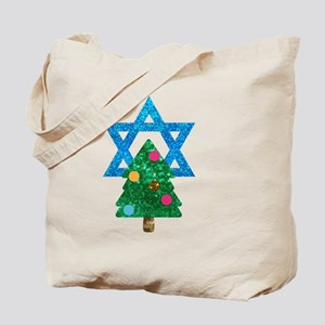 glitter christmukkah Tote Bag