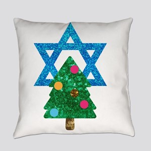 glitter christmukkah Everyday Pillow