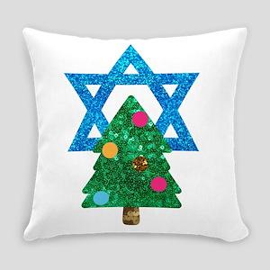 glitter christmukkah Everyday Pillow