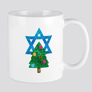glitter christmukkah Mugs