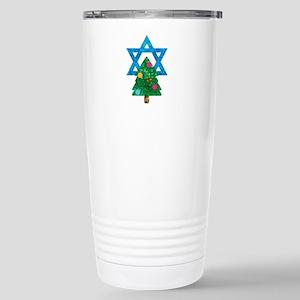 glitter christmukkah Stainless Steel Travel Mug