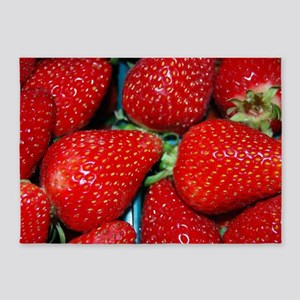 STRAWBERRIES 3 5'x7'Area Rug