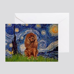 Starry Night & Ruby Cavalier Greeting Cards (Packa