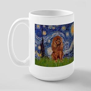 Starry Night & Ruby Cavalier Large Mug