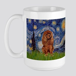 Starry Night & Ruby Cavalier Large Mug
