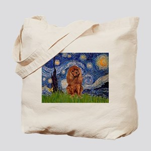 Starry Night & Ruby Cavalier Tote Bag