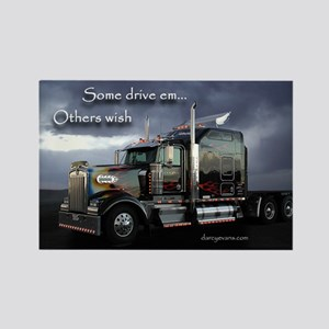 Truckers Rectangle Magnet