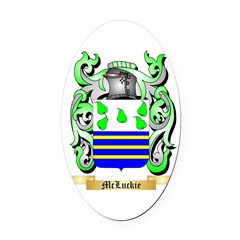McLuckie Oval Car Magnet